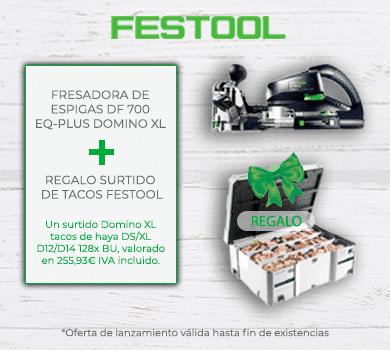 Promoción Fresadora de espigas DF 700 EQ-PLUS DOMINO XL