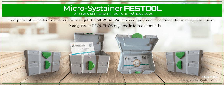 Nuevo Micro-systainer tarjetero Festool