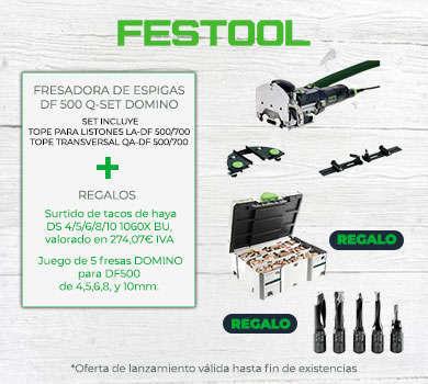 Promoción Fresadora de espigas DF 500 Q-SET DOMINO